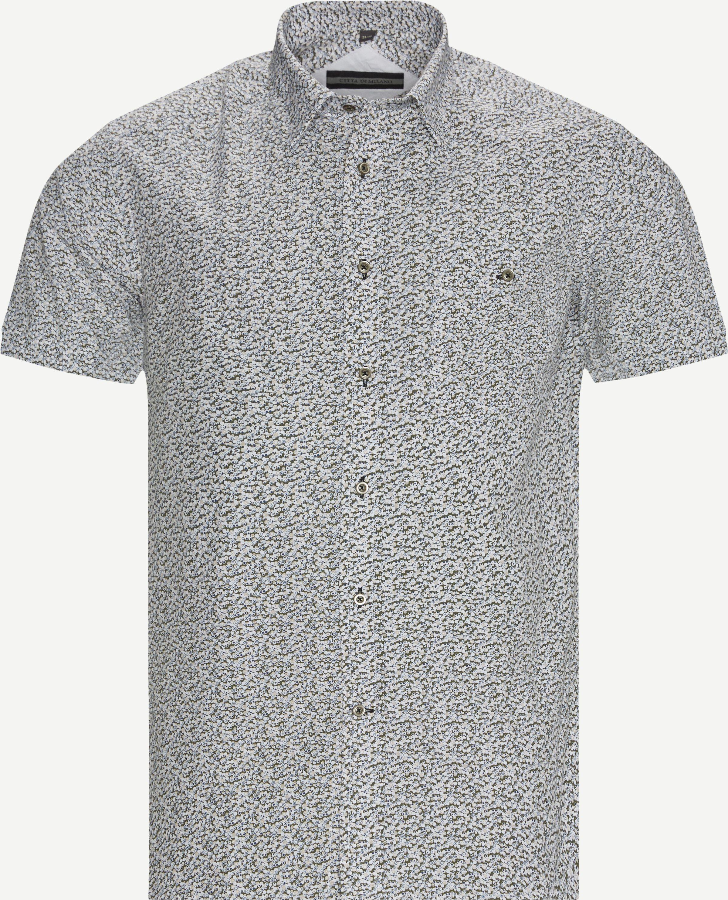 Lugano K/Æ Skjorte - Kortärmade skjortor - Regular fit - Blå